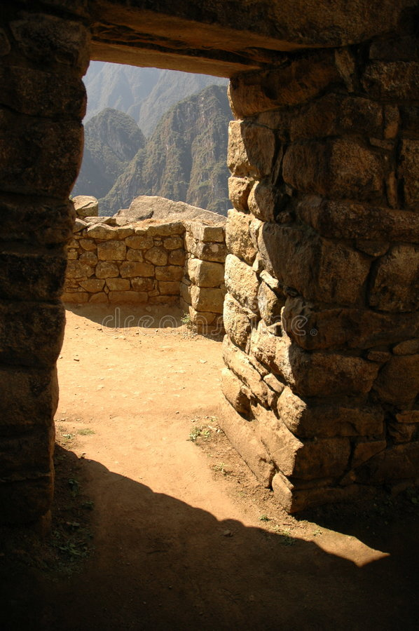 Doors Inside Machu Picchu Royalty Free Stock Images
