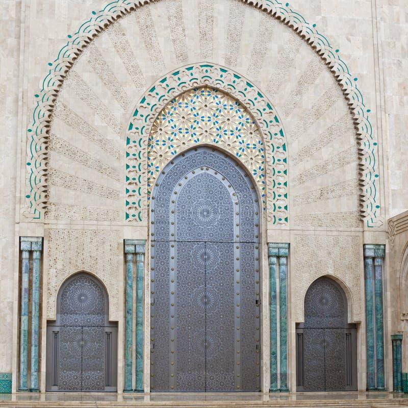Doors King Hassan II Mosque, Casablanca stock images