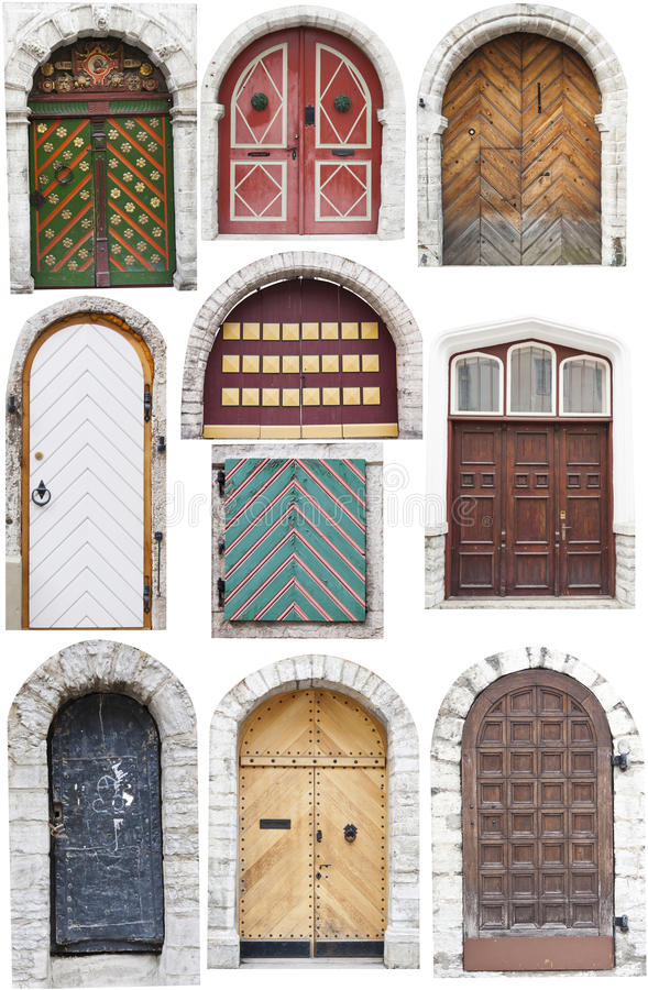 Download Doors with limestone edges stock photo. Image of green - 24687660