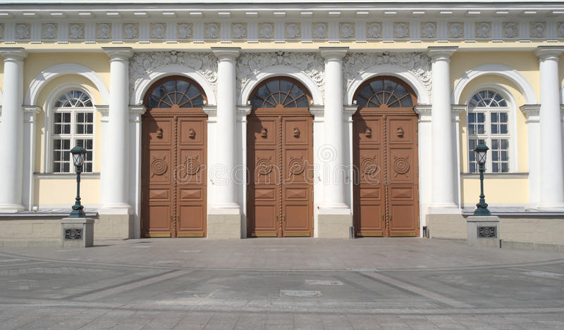Download Doors Of Manege Exhibition Hall In Moscow Closeup Stock Image - Image: 27824131