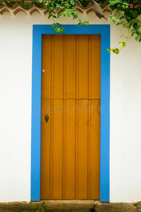 Doors in Paraty, Rio de Janeiro royalty free stock images