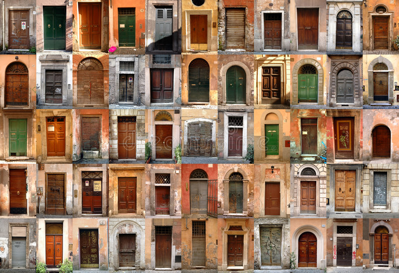 Doors - Rome, Italy. Compilation of old doors (Rome, Italy