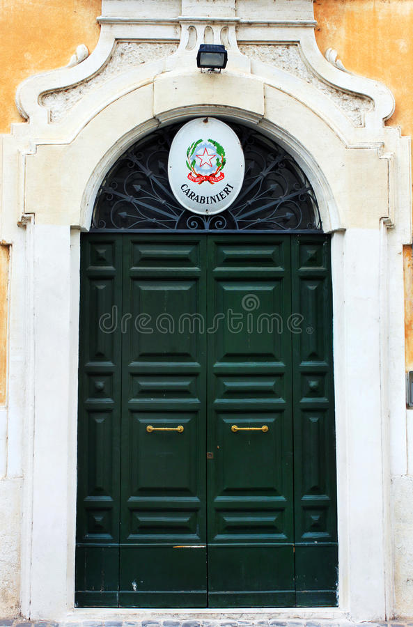 Doors in Rome, Italy stock images
