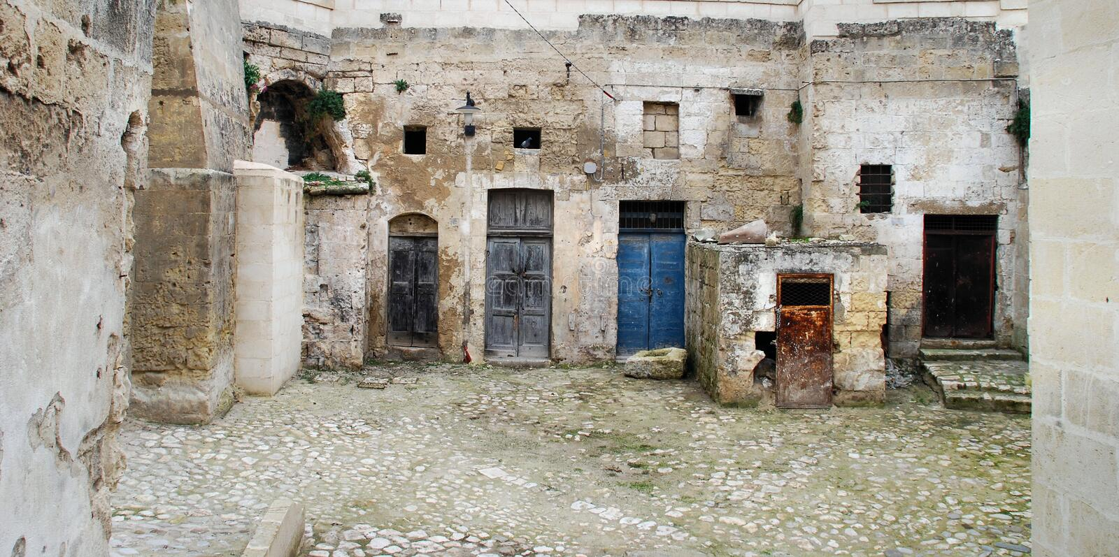 Download Doors In The Sassi In Matera Stock Image - Image: 7185797