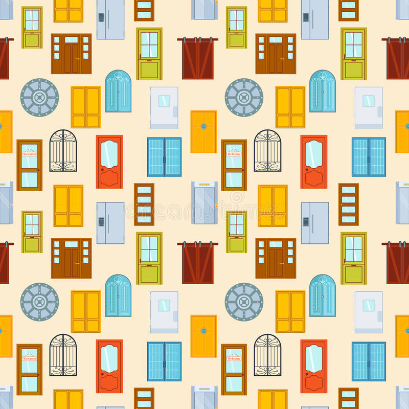 Download Doors Seamless Pattern Vector Illustration. Stock Vector - Image: 83720954