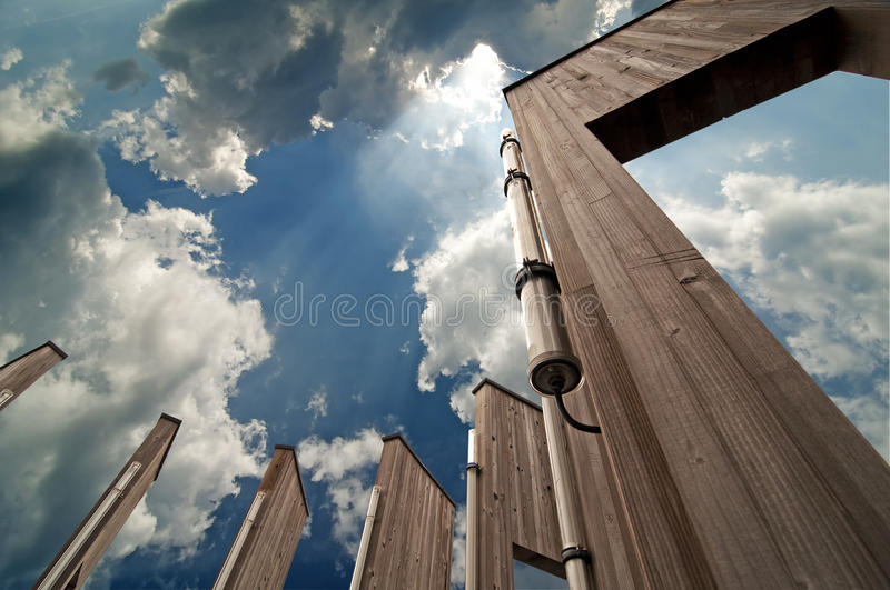 Download Doors and sky stock image. Image of religious, rays, gateway - 15463317