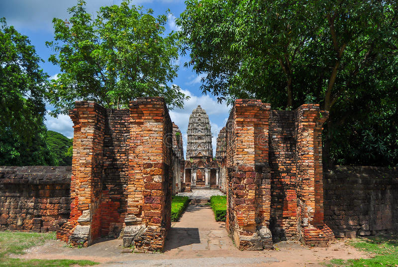 Through the doors of Sukhothai royalty free stock images