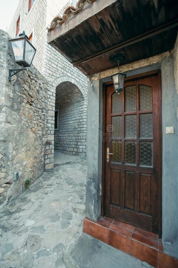 Doors to the old town home in Ulcinj royalty free stock images