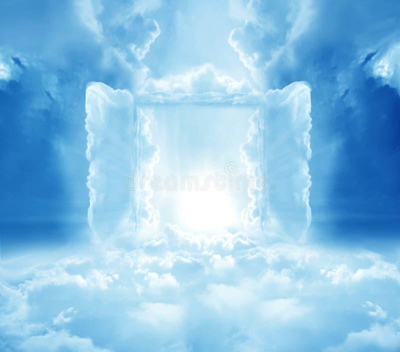 Doors to paradise. Concept mystical doors to heaven