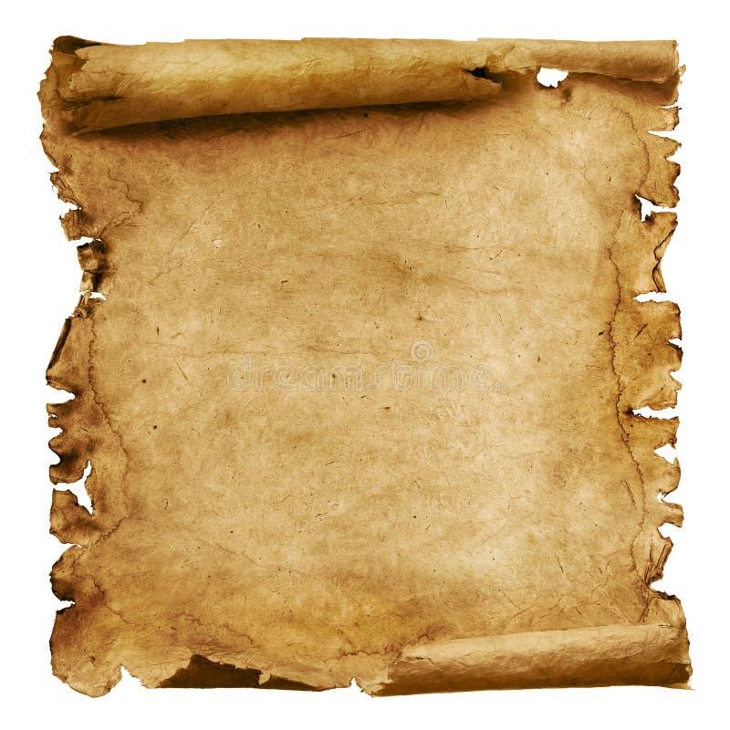 Doorstane document rol stock afbeeldingen