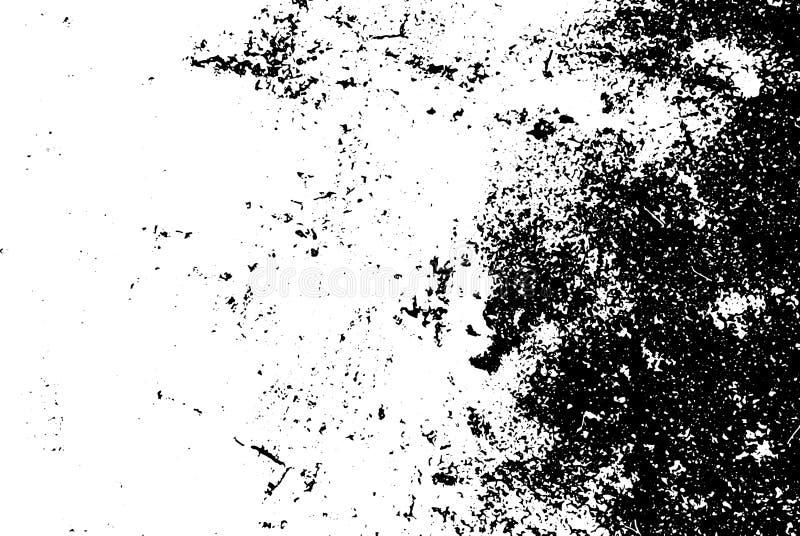 Doorstane en ruwe concrete vloertextuur Versleten textuur met korrel en zwarte hoek vector illustratie