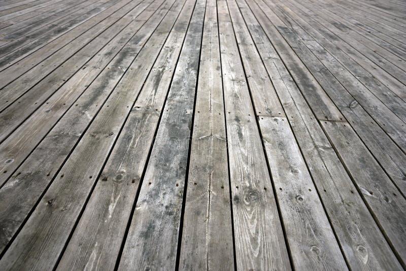 Doorstane houten vloer royalty-vrije stock fotografie