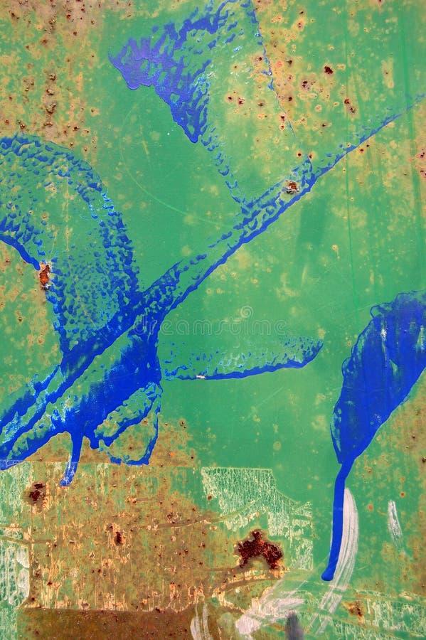 Doorstane metaaloppervlakte stock afbeeldingen