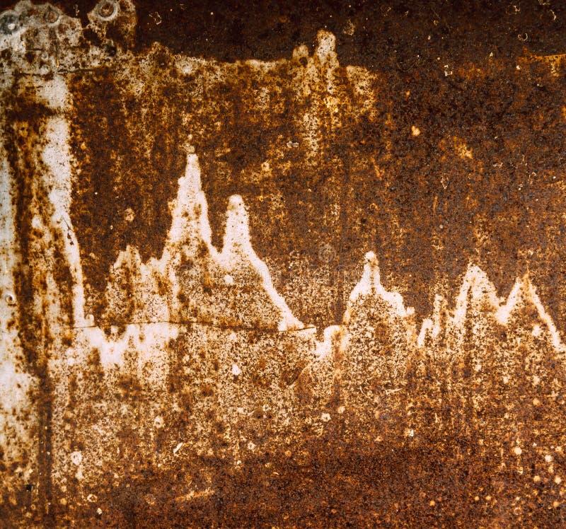 Doorstane metaaloppervlakte, textuur royalty-vrije stock foto's