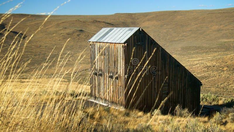Doorstane Schuur in Oostelijk Oregon royalty-vrije stock afbeeldingen