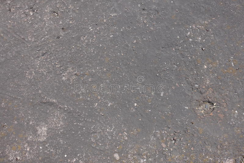 Doorstane stoffige donkere grijze concrete plak royalty-vrije stock foto's