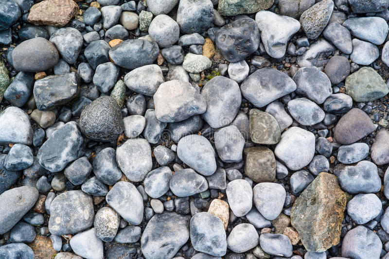 Doorstane strandstenen #2 stock afbeeldingen