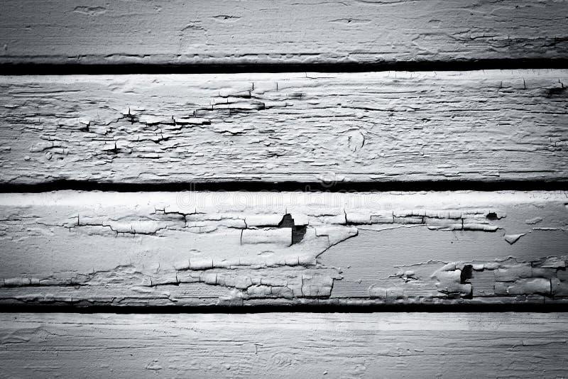 Doorstane zwart-witte houten muurachtergrond royalty-vrije stock foto's