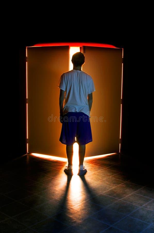 Download Doorway stock image. Image of light, mystery, exit, teenage - 3215753