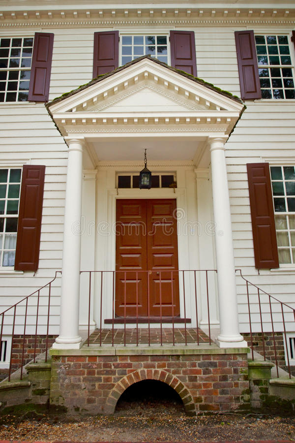 Doorway Of Colonial House Stock Photography Image 32859772