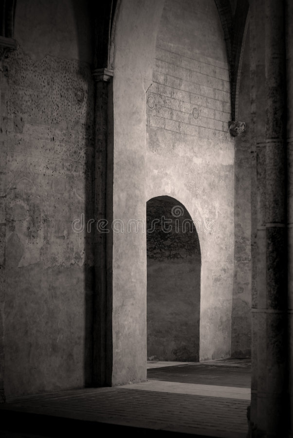 Download Doorway In Old French Church Stock Photo - Image: 3432466