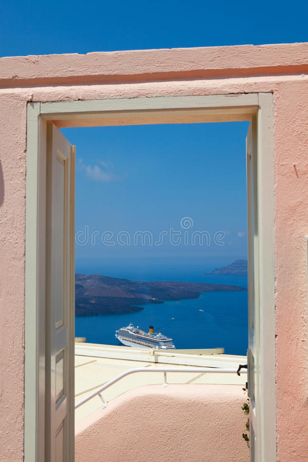 Download Doorway in Santorini stock image. Image of paradise, doorway - 20668605