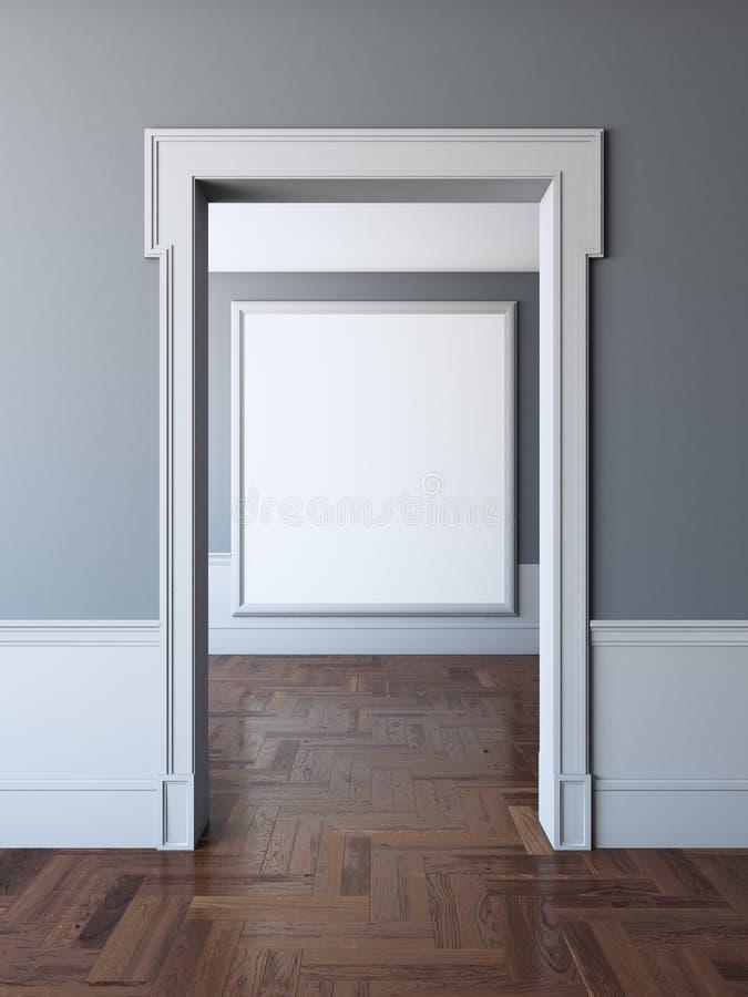 Doorway To Empty Room With Frame Stock Photo - Image of floor, frame ...