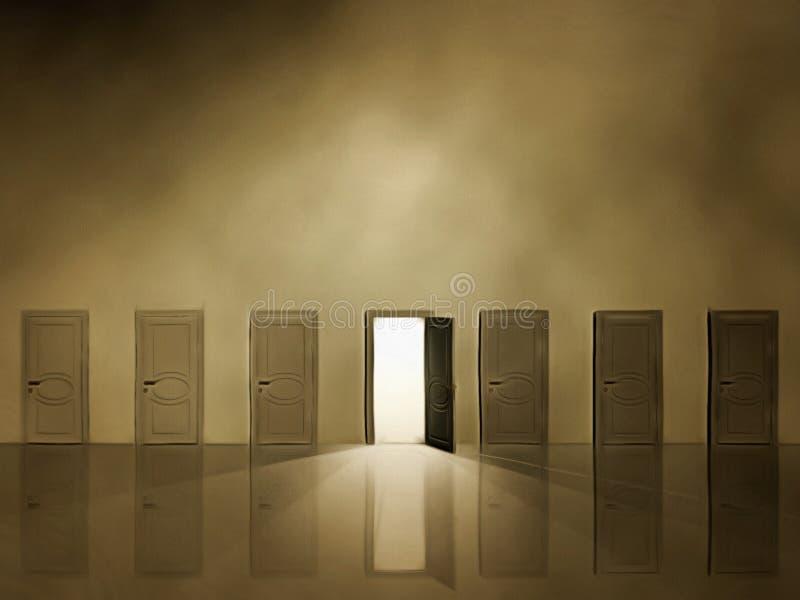 Doorway to heaven stock illustration