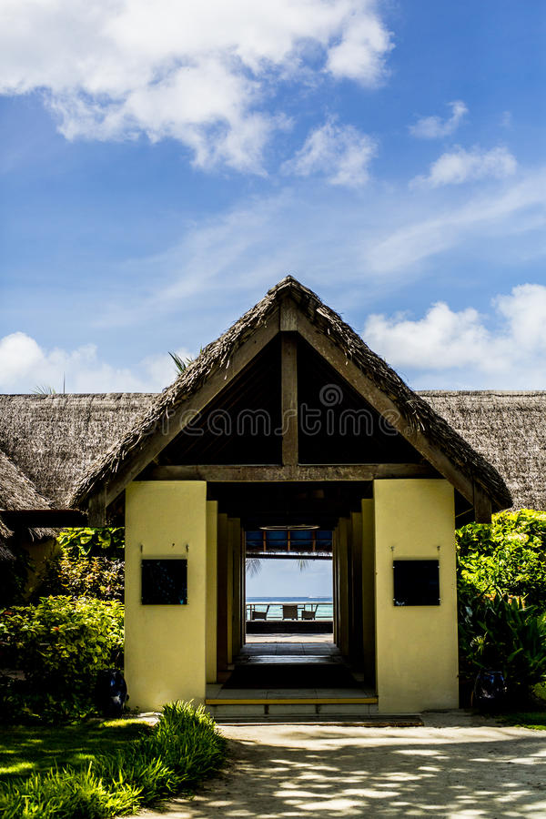 Download Doorway To Resort Restaurant, Maldives Stock Image - Image of skies, entry: 76229055