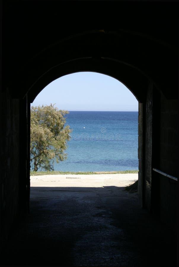 Doorway to the Sea stock photos
