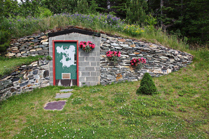 underground home. Download Doorway To Underground Home Stock Photo  Image of country flowers 18055704