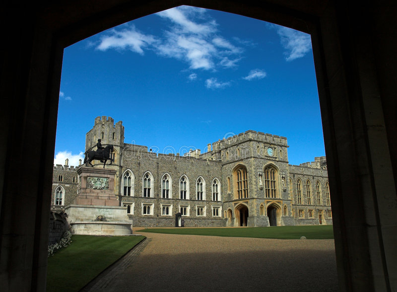 A doorway to windsor castle royalty free stock photo