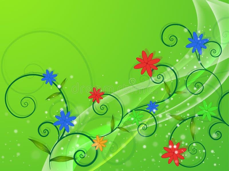 Doorzichtige bloemen vector illustratie
