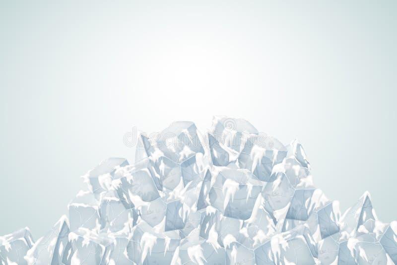 Doorzichtige sneeuw met ijs royalty-vrije illustratie