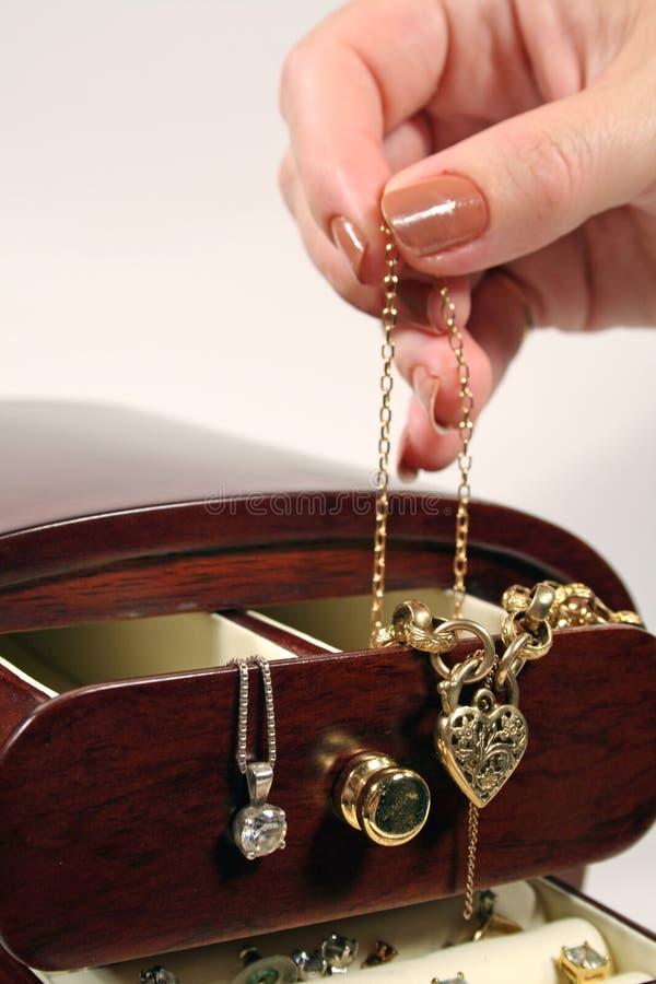 Doos 2 van juwelen stock foto