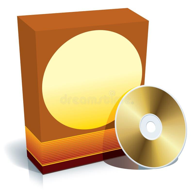 Doos en CD vector vector illustratie