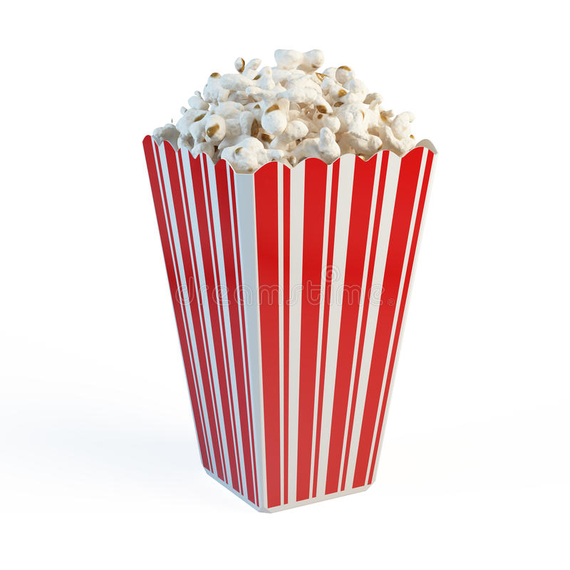 Doos popcorn vector illustratie