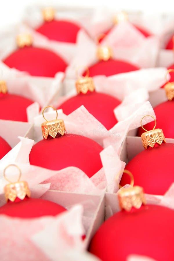 Doos van de Ornamenten van Kerstmis royalty-vrije stock foto