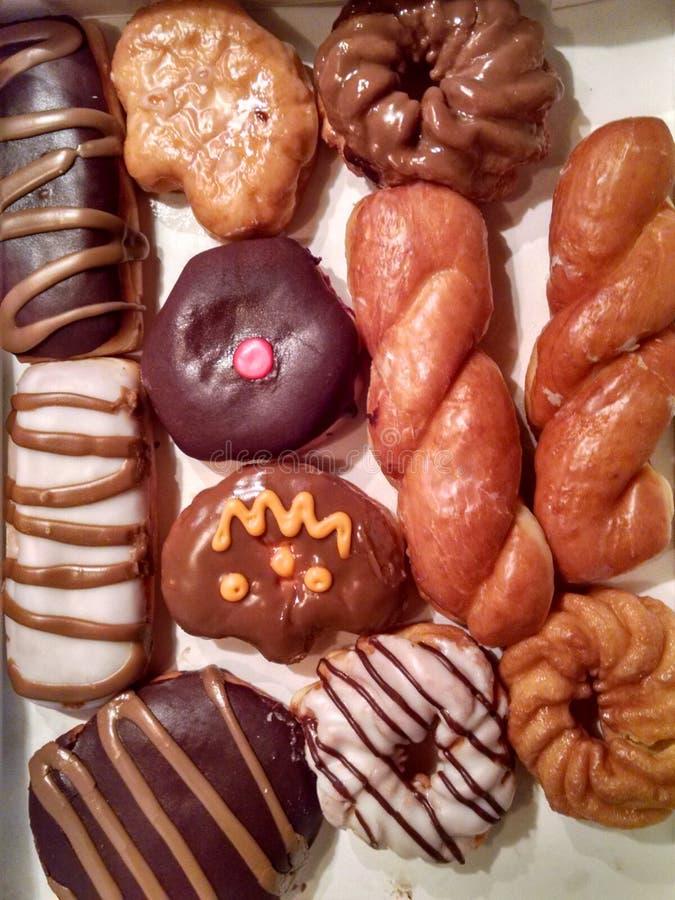 Doos van donuts of doughnuts? royalty-vrije stock foto