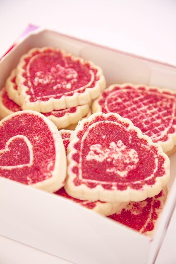 Doos van koekjes stock afbeeldingen