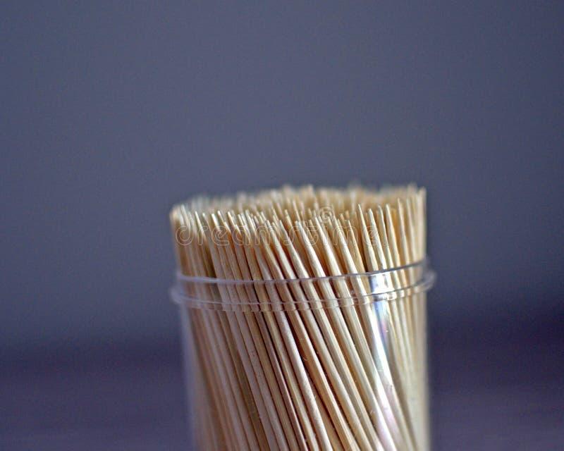 Doos van tandenstokers royalty-vrije stock foto