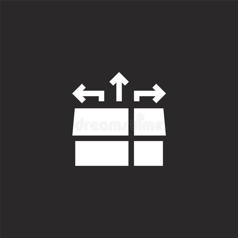 Doospictogram Gevuld vakje pictogram voor websiteontwerp en mobiel, app ontwikkeling doospictogram van gevulde geïsoleerde beheer royalty-vrije illustratie