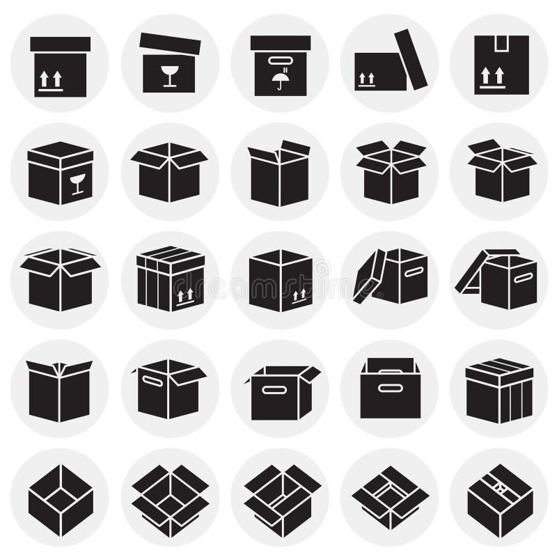 Doospictogrammen die op cirkelsachtergrond worden geplaatst voor grafisch en Webontwerp, Modern eenvoudig vectorteken Het concept stock illustratie