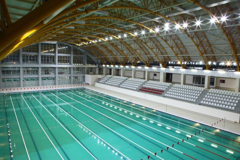 Dopłynięcie olimpijski sklejony basen fotografia royalty free