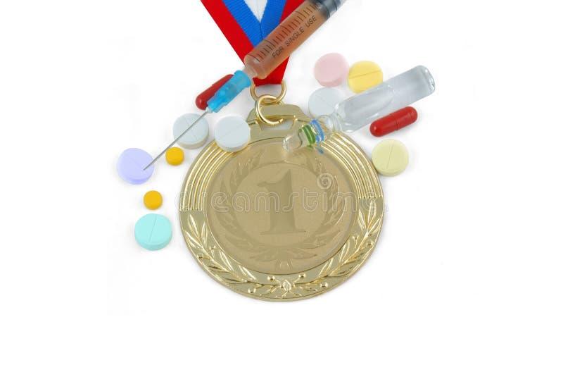 Dopage dans le sport illustration de vecteur