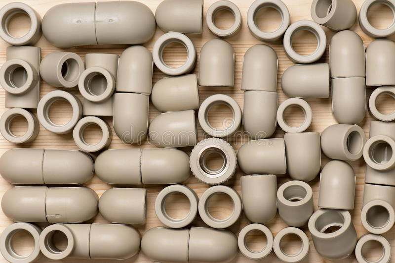 Dopasowania dla plastikowych drymb obraz stock