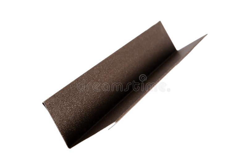 Dopasowania używać przy mieścą dach Metal płytka pojedynczy białe tło obrazy stock