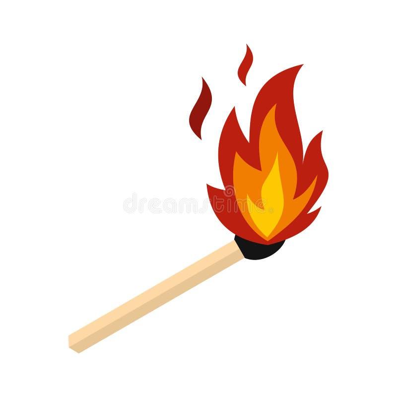 Dopasowanie z pożarniczą ikoną, mieszkanie styl ilustracji