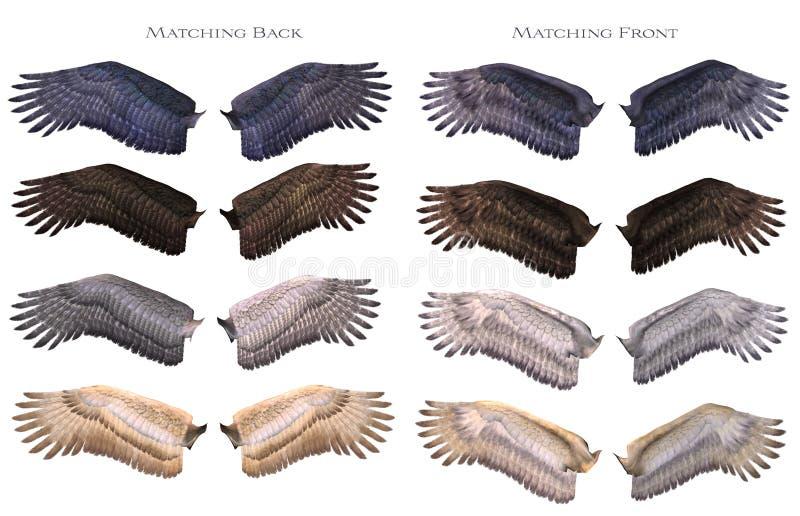 dopasowywań skrzydła ilustracja wektor