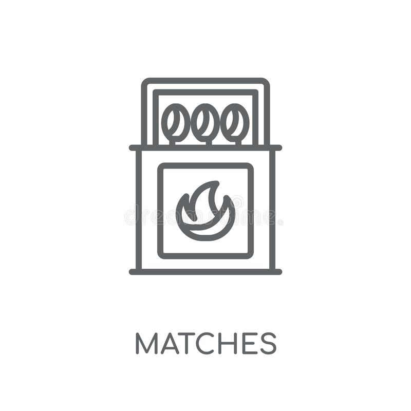 Dopasowywa liniową ikonę Nowożytny kontur Dopasowywa logo pojęcie na whit ilustracja wektor